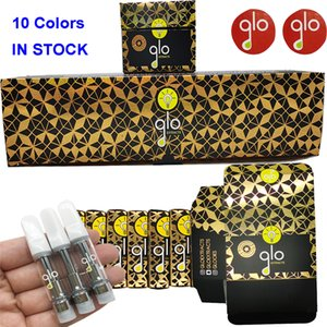Glo Empty Vape Pen Cartridge Packaging 510 Thread Cartridges Disposable E Cigarettes Vape Carts 0.8ML 1ML Glass Tank Thick Oil Atomizer