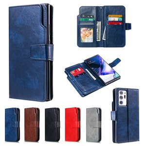 Book Flip Wallet PU Leather Case For Samsung Galaxy Note20 Ultra Note10 Note9 Note8 A01 A11 A41 A7 2018 Cards Holder Phone Coque