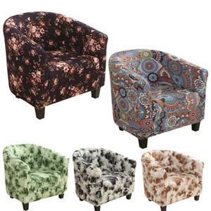 Elastic Sofa Armchair Seat Cover Protector Washable Spandex Furniture Slipcover Easy-install Home Coffee Tub 1 Seat Chair cover