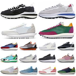 sacai LDV Waffle Daybreak Повседневная обувь Nylon Pigeon Pine Green des chaussures женские мужские кроссовки для спорта на открытом воздухе