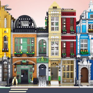 MOC Creator Expert Shoes Shop Bricks City Street View Series Model Kit Building Blocks Kids Toys Compatible With 10182 Q1126