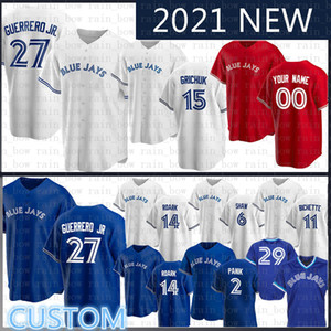 27 Владимир Герреро jr.toronto Blue Custom Jays Bayball Jersey George Bell Joe Carter Roberto Alomar Джастин Smoak Morris Martin Donaldson
