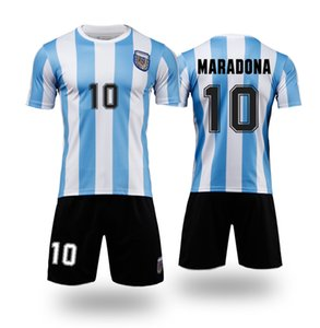 1986 Argentina Kids Soccer Jerseys sets Tracksuits MARADONA 20 21 football boys shirt with shorts