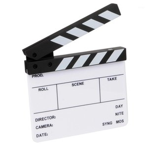 Photography Props Camera Photography Video Acrylic Small Clapboard Dry Erase Director Film Movie Clapper Board Slate 16X14Cm1