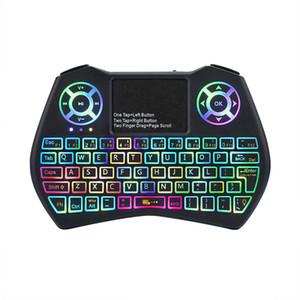 Mini clavier I9 Plus Souris d'air de rétroéclairage coloré avec télécommande TouchPad Travaux de télécommande pour Android Box / TV / Mini PC / Projecteur / X96