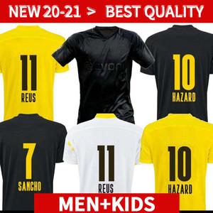 Дортмунд Haaland Reus 20 21 Brandt Soccer Jersey 2020 2021 футбольные рубашки Bellingham Sancho 110-е мужчины + дети Maillot de og