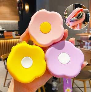 Cute Gifts girly style Korean flower coin purse pendant fashion key chain couple accessories creative gifts