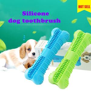 Petit brosse à dents Silicone Dog Jouets Bones Design Chiot Bâton Stick Safe Silicone Pet Brosse à dents Chew Jouets Accessoires pour chien pour animaux de compagnie