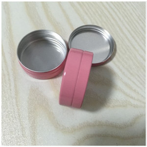 500pcs 10g Empty pink Aluminium Cosmetic Containers Pot Base Lip Balm Jar Tin For Cream Ointment Hand Packaging