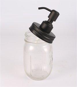 블랙 메이슨 항아리 비누 디스펜서 뚜껑 녹 방지 304 스테인레스 스틸 액체 소형 헤드 로션 펌프 주방 욕실 항아리 포함 AHF3327