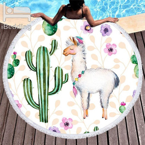 Cactus Tropical Plants Printed Large Round Microfiber Beach Towel For Adults Kids Blankets With Tassels Swimwear Bikini Cover Up1