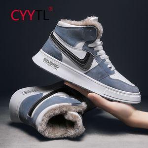 Cyytl Изолированные зимние туфли для мужчин Womne теплые удобные спортивные ходьбы лодыжки находятся на гонке нынешними кроссовки без скольжения мех выровняны LJ201120