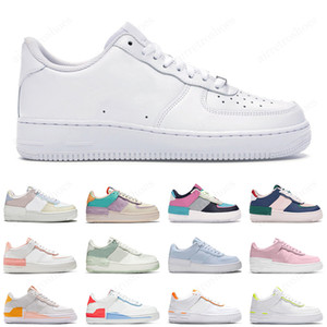 AF1 Air Force 1 Hommes Femmes Designer Casual Sneakers Skateboard Chaussures Low Black White Utility Red Flax High Cut High quality Mens Trainer Sports Shoe