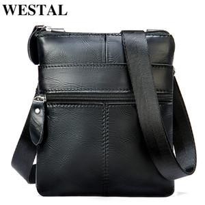 WESTAL Men's Shoulder Bag Small Crossbody Bags for Men Mini Bag for Phone Men's Bag Genuine Leather Men Messenger Bags 2222