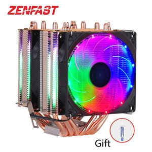 6 heat-pipes RGB CPU Cooler radiator Cooling 3PIN 4PIN 2 Fan For LGA 1150 1155 1156 1366 2011 X79 X99 Motherboard AM2 AM3 AM4