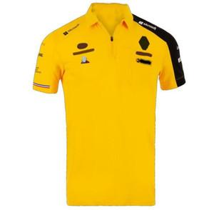 Version Ventilateur de voiture Tee-shirt F1 Racing Costume T-shirt Homme à manches courtes Séchage rapide Polo Chemise Vapel Car Club Ventilateur de voiture Customs