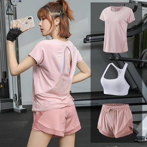 Summer New Products Yoga Camisole Shorts Three-piece Set Running Sports Set Quick-Drying Online Celebrity Gym Clothes Loose