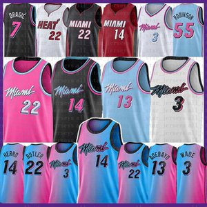 Tyler Jimmy 14 Herro Butler كرة السلة جيرسي مياميالحرارة22 دواين دويان 3 واد بام غوران دنكان نون روبنسون داجيك أديبايو مع ارتفاع درجات الحرارة