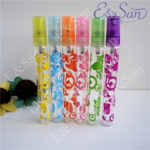 DHL 50Set Lot 6Pcs set 10ml Rose Crystal Cut Glass Perfume Spray Bottles Atomizer Refillable Empty Bottle Hot Sale Free Shipping
