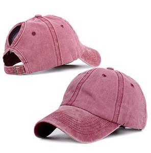 Fashion Design Ponytail Baseball Cap Women Snapback Dad Hat Female Wash Hat Summer Sport Sun Hat CCD3335