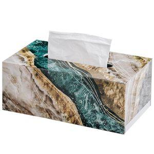 B-LIFE Rectangular Acrylic Facial Tissue Box Napkin Holder for Home Office Car Automotive Decoration Bathroom Vanity Countertops