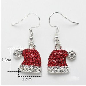 2019 Personality Natural Dangle Drop Earrings Crystal Stone Ethnic Fashion Red Hat Christmas Hanging Earrings For Women Brincos sqcDBj