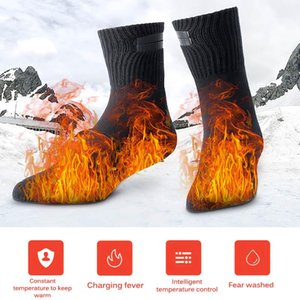 1 Pair Heating Socks Winter Thermal Heated Socks Thicken Super Soft Unique Comfort Keep Foot Warm Outdoor Ski Accessories