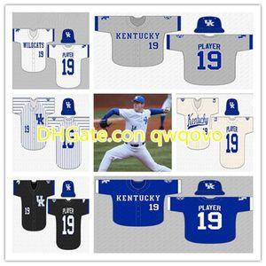 Custom 2020 College Kentucky Wildcats Jersey de béisbol ORAJ ANU T.J. Collett Braxton Cottongame Elliott Curtis Alex degen Matt Golda Harper