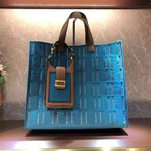 2PS La nuova borsa delle donne della borsa grande tote sacchetto della lettera f la tela ritagliata il ricamo con mini sacchetto del telefono cellulare tracolla staccabile a spalla larga ff