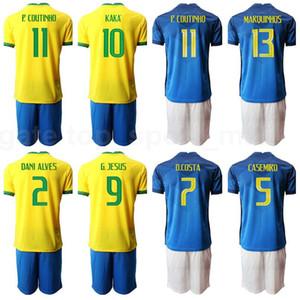 Futebol 10 Neymar Jr Jersey Set 9 Gabriel Jesus 2 Silva 7 David Neres 13 Dani Alves Casemiro Marquinhos Camisa de Futebol Kits B-X