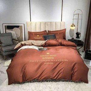 Branded Soft Cotton Biancheria da letto Set Designer Lettera Stampata Cover piumino Trapunta Cover Breve Bedclothes Sheet Queen Size Cover Comforter
