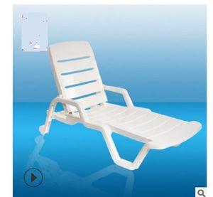 2020 hot sale Beach chair Armchair garden chair Pool folding recliner Hotel lounge chair Patio Benches