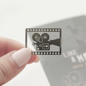 Mohamm Cute Creative Roll Film Movie Pendant Bookmark Student Metal Folder Stationery School Office Supplies F sqcHRu bdenet