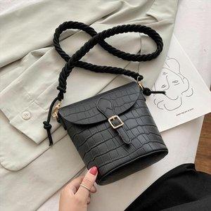 Solid Color Bucket Bags For Women 2019 Quality Handbags Lady Fashion Shoulder Crossbody Messenger Bag Hand Bag