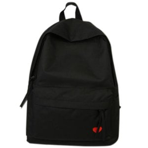 Designer-New High School Student Bag Female Canvas Backpack Girl Travel Large Capacity Backpack Black