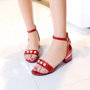 Big Size 11 12 13 14 15 16 17 high heels sandals women shoes woman summer ladies Roman sandal lady's open toe buckle