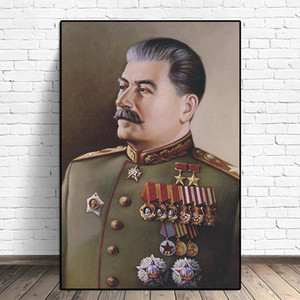 Joseph Stalin Portrait Wall Art Pictures Canvas Painting Posters and Prints Scandinavian for Living Room Cuadros Home Decor
