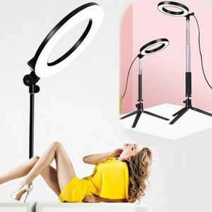 LED Selfie Ring Light Encher Light Telefone Titular Telefone Móvel Live Dimmable 5500K 30cm Beleza Self-Timer Fill Makeup