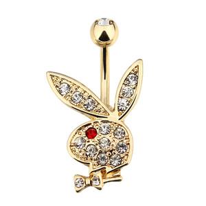 2020 yeni stil sevimli tavşan göbek göbek düğmesi yüzükler 316L çelik piercing göbek düğmesi yüzük yaz tatili için