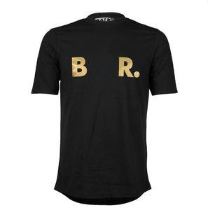 Trasporto libero T-shirt da uomo Bolrx Street Tide Brand Brand-maniche corte girocollo allentato T-shirt da uomo in cotone a maniche corte