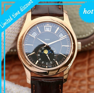 KM PTK Philip Complication Chronograph 5205G-013 Lederband Automatische mechanische mechanische mannsuhr