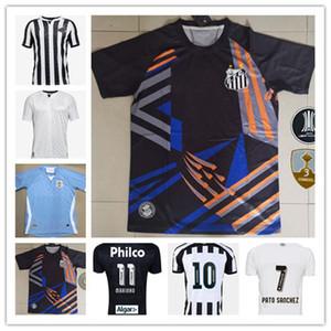 2020 2021 Santos FC Jersey de football 20 21 Santos Home Away Gabriel Rodrygo Dodo Renato Sasha Chemises de football Uniformes Top Thaïlande avec patch