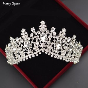Shiny Vintage Bridal Crown Baroque Luxury Rhinestone Bridal Hair Accessories Crystal Crown Birthday Party Hair Accessories