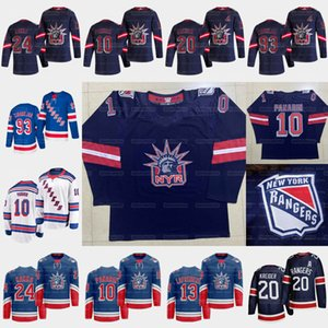 New York Rangers 2021 Reverse Retro Artemi Panarin Alexis Lafreniere Chris Kreider Kaapo Kakko Mika Zibanejad Buchnevich Gretzky Jersey