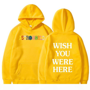 TRAVIS SCOTT ASTROWORLD YOU WERE HERE HOODIES fashion letter ASTROWORLD HOODIE streetwear Man woman Pullover Sweatshirt CX200818