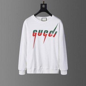 2020 Cinza Luxo Italiano Designer de Moda Marca Novo Hooded Manga Longa Camisola Logo Hoodie Ladies Sweatshirt Vestuário masculino M-3XL