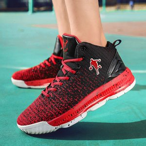 Spring new men's leisure high top tennis flying fashion students sports basketball shoes