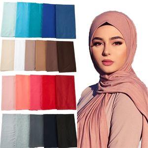 28 color muslim jersey hijab scarf foulard hijabs Islamic shawls soild Modal headscarf for women 85*180cm 10pc lot C1121