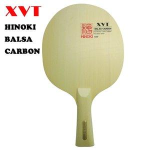 Самый легкий XVT BALSA углерода Настольный теннис пластинчатые / Настольный теннис лезвия Hinoki Wood + Basla древесины Бесплатная доставка 201116