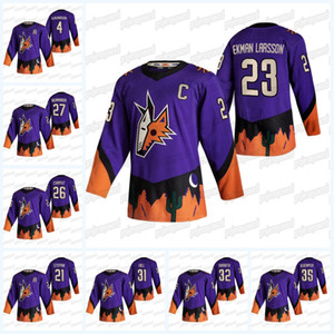 Arizona coyotes 2,021 inversa Jersey retro Michael Clayton Chaput Keller Tyler Pitlick Oliver Ekman-Larsson Niklas Hjalmarsson Derek Stepan